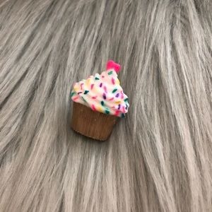 Sprinkled Cupcake Handmade Resin Brooch Pin